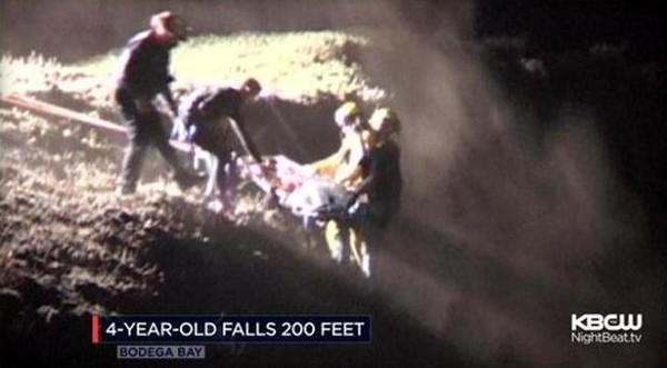 Boy falls Bodega Head