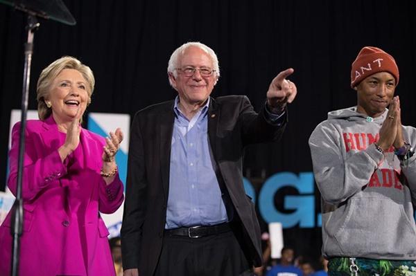 Hillary Clinton Bernie Sanders Pharrell Williams