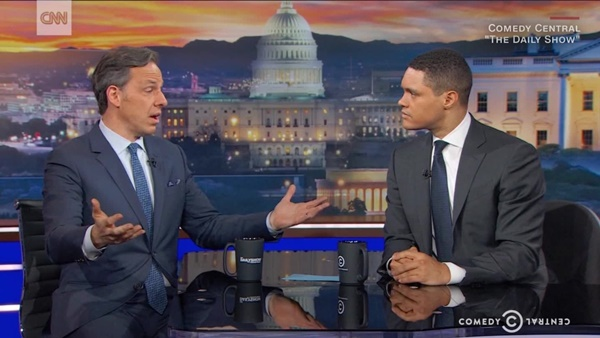 Jake Tapper Trevor Noah Daily Show