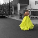 Julianne Hough's plunging yellow gown: DWTS judge stuns in bright dress at premiere
