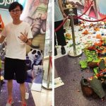 Kid destroys LEGO sculpture at China expo