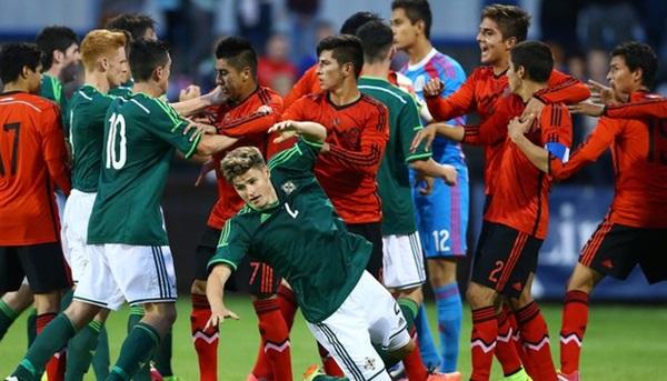 Mexico Northern Ireland Brawl