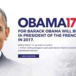 Barack Obama's 2017 France Campaign Is Underway, Petition Wants Him As President