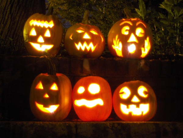 Pumpkin carving patterns printable find free easy - Idee deco citrouille halloween ...